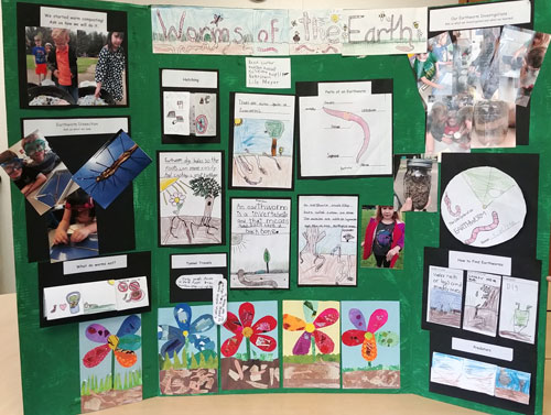 Stidents in the Benton County 4-H Wildlife Stewards created a display on worms