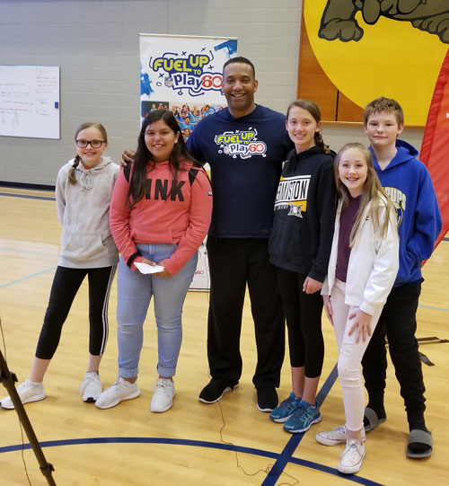 The Armand Larive Middle School Television Club filmed a video with former NFL player Anthony Newman