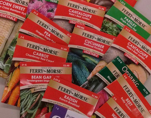 Seeds given away by Sherman County Extension in Garden Starter Kits
