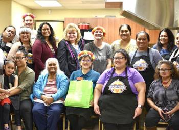 Pacific Islander and Micronesian Cooking Matters class participants after a cooking class dedicated to culturally based healthy recipes.