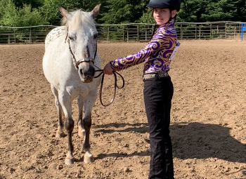 Like other 4-H youth, Taylor Nichols of Wilsonville submitted a showmanship video for for the Clackamas County 4-H Horse Fair in 2020.